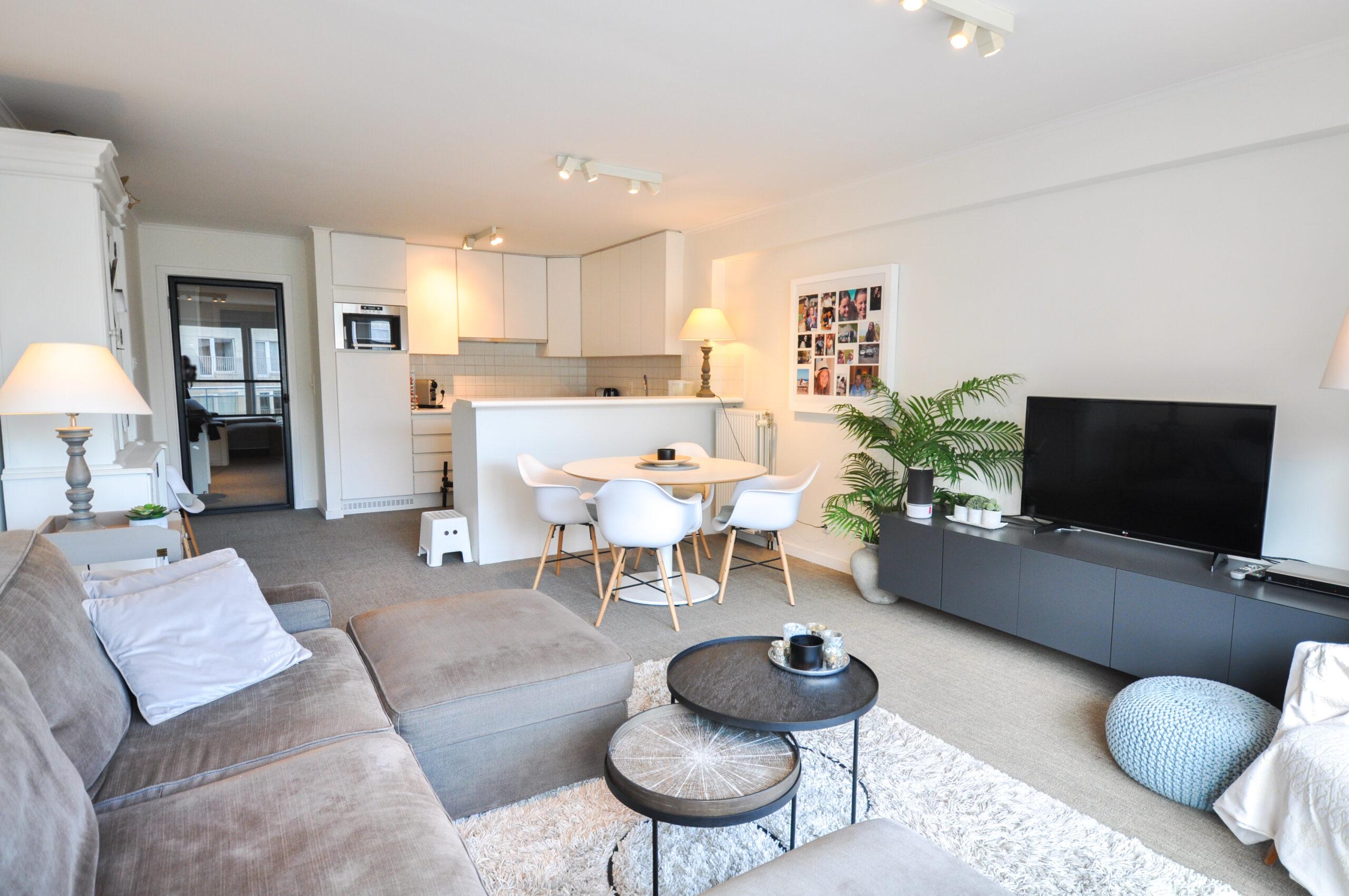 Lichtrijk appartement in centrum Knokke
